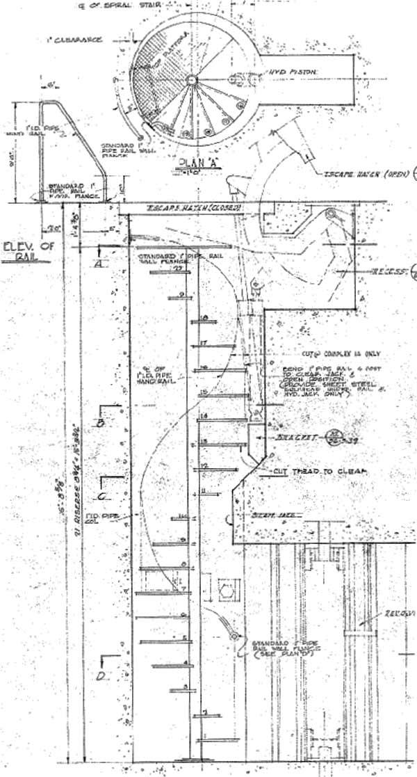 Titan i epitaph entry portal Spiral stair details