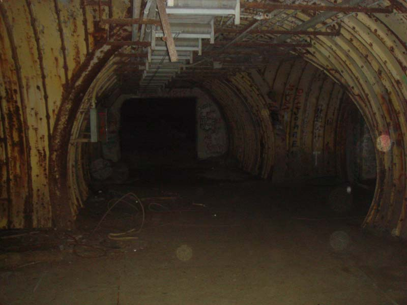 Tunnel junction #10 - the power house is straight ahead and the entry portal is on the right.